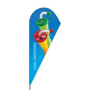 Flaga na maszcie Emotikon