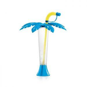 Kielich Palma 250 ml niebieska z żółtą rurką