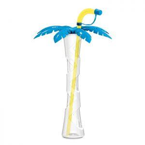 Kielich Palma 400ml niebieski z zółtą rurką