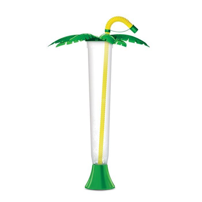 Kielich Palma 400ml składana zielona z żółtą rurką 108 szt.