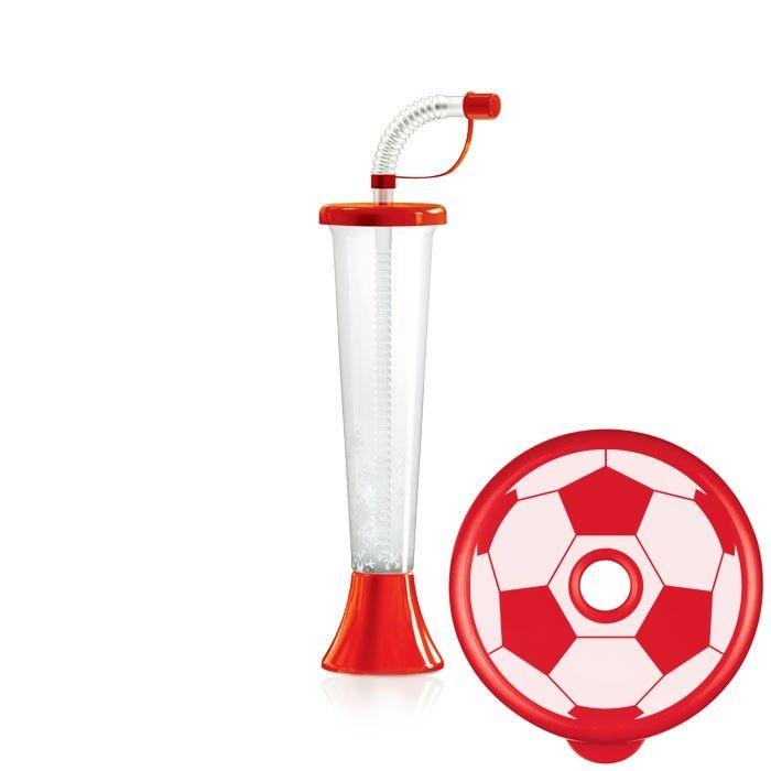 Kielich Piłka 250 ml czerwony 108 szt.