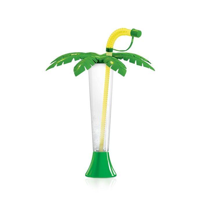 Kielich Palma 250 ml zielona z żółtą rurką 108 szt.