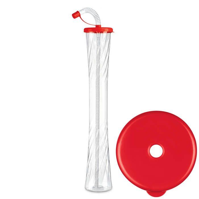 Kielich Płaski 600 ml czerwony 54 szt.