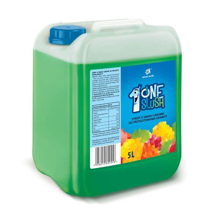 Syrop do granity o smaku Limonka (rozrabiamy 1:7 !) 5 litrów