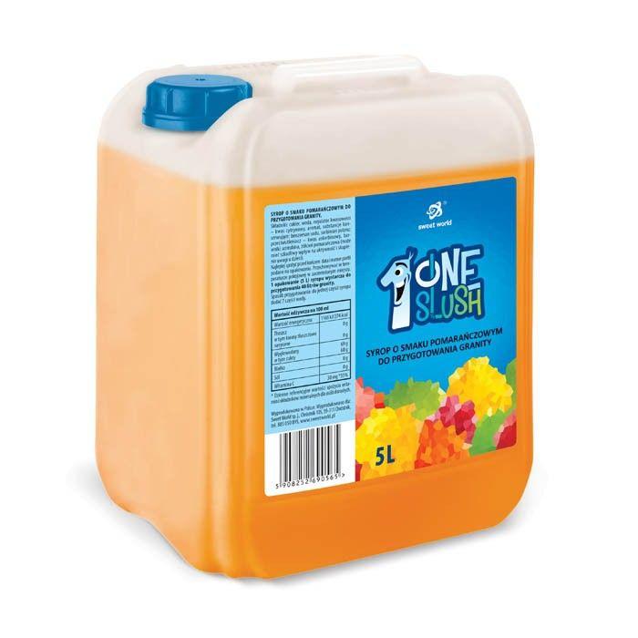 Syrop do granity o smaku Soczystej pomarańczy 5 litrów (rozrabiamy 1:7 ! )