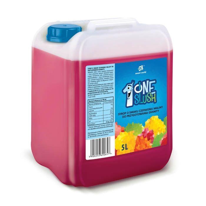 Syrop do granity o smaku czerwonej maliny (rozrabiamy 1:7 !) 5 litrów