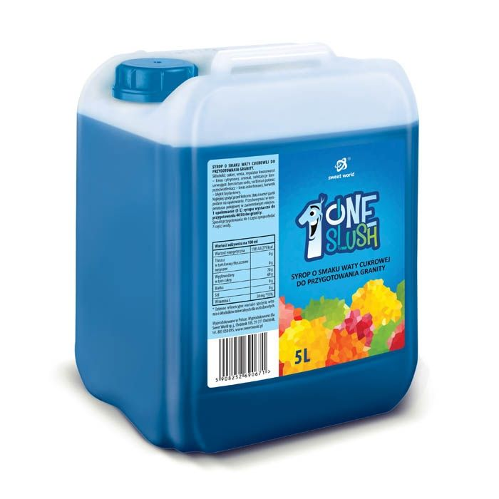 Syrop do granity o smaku waty cukrowej (rozrabiamy 1:7 !) 5 litrów